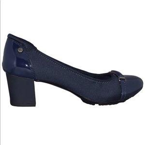 Navy Size 7 Anne Klein-Gwenna Work Low-heel Pump